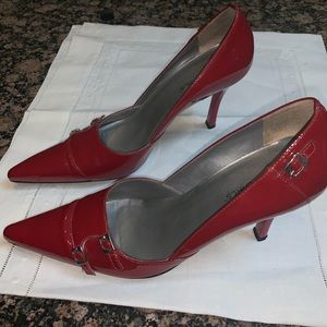 BCBG Generation Cherry Red Patent Heel Size 7.5B